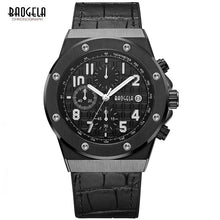 Load image into Gallery viewer, BAOGELA Men's New Quartz Watches 2019 Waterproof Chronograph Casual Luminous Wrist Watch Man Leather Strap Relogios 1805 Blue