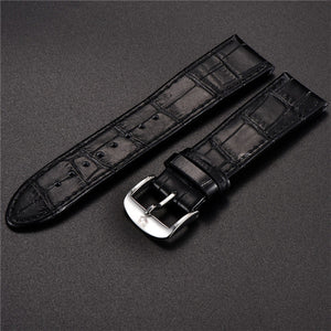 Benyar Brand Watchbands strap 22mm Universal Leather Strap Bracelet strap Black Watch Bands