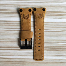 Load image into Gallery viewer, Benyar Watchbands strap 22mm Universal Leather Strap Bracelet Silicone strap Watch Bands