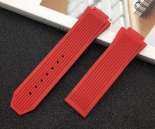 Load image into Gallery viewer, Brand Soft Rubber Silicone transparent black blue red Watchband 26*17mm for Hublot strap for Big Bang belt watch band Bracelet