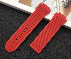Brand Soft Rubber Silicone transparent black blue red Watchband 26*17mm for Hublot strap for Big Bang belt watch band Bracelet