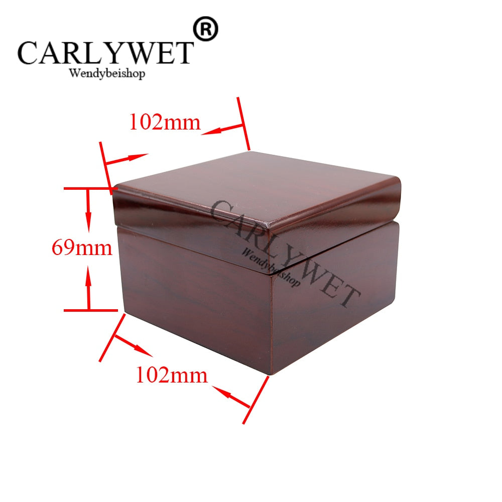 CARLYWET Wholesale Fashion Luxury Wood Watch Box Jewelry Storage Case Gift Box With Pillow For Rolex Omega IWC Panerai Breguet