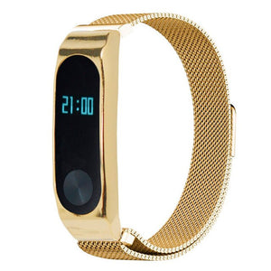 CRESTED Milanese Loop for xiaomi mi band 2 wrist strap Magnetic buckle Link Bracelet for xiaomi mi band2 wrist band Bracelets