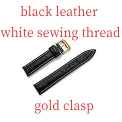 Calf Genuine Leather Watch Band Strap Stainless Steel Clasp 22mm 18mm Watchband gift