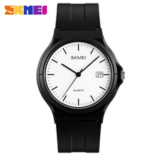Load image into Gallery viewer, Fashion Brand SKMEI Women Watches Simple PU Strap Calendar Quartz Wrist Watches For Women Men Luxury Waterproof Couple Watch