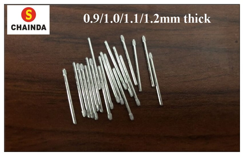 Free Shipping 50 PCs Knurled Pressure Link Pin Assortment 0.9/1.0/1.1/1.2mm Thick Refill Sizes