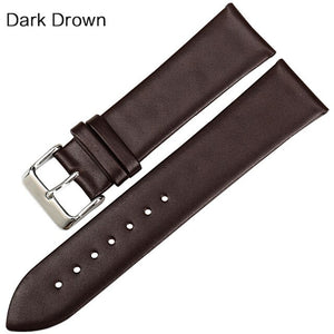 MAIKES New design watchband watch accessories white watch strap 12-24mm thin cow leather watch band women watch bracelet for DW