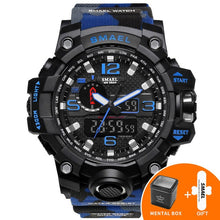 Load image into Gallery viewer, Military Watch Digital SMAEL Brand Watch S Shock Men's Wristwatch Sport LED Watch Dive 1545B 50m Wateproof Fitness Sport Watches