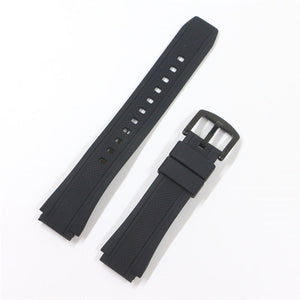 Rubber Watchband for Casio Watch Edifice EF-552D-1A Strap Sports  Bracelet Man Silicone Bracelet 17mm Butterfly Buckle EF-552