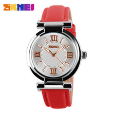 Load image into Gallery viewer, SKMEI Unique Woman Quartz Watches Analog Hollow leather WristWatch fashion ladies Gfit Casual watch female Relogio Feminino