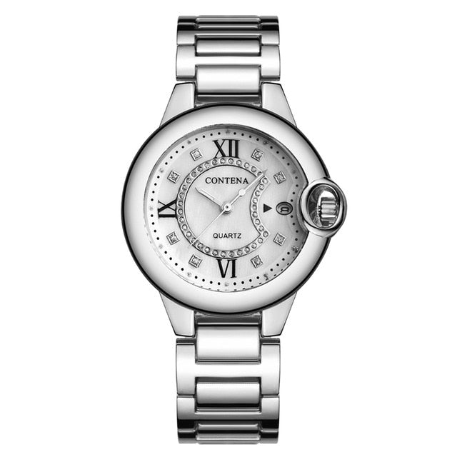 Silver Gold Wrist Watch Women Watches Ladies Luxury Brand Famous Female Clock Quartz Watch Golden Montre Femme Relogio Feminino