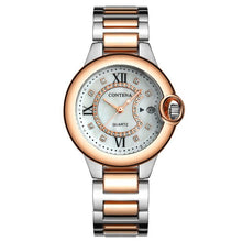 Load image into Gallery viewer, Silver Gold Wrist Watch Women Watches Ladies Luxury Brand Famous Female Clock Quartz Watch Golden Montre Femme Relogio Feminino