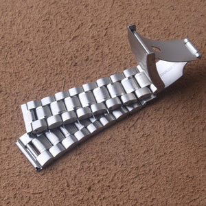 Silver Stainless steel Watchbands Strap Bracelet Classic Watch band 18mm 20mm 22mm 24mm One Side Button Buckle Promotion straps