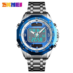 Solar Men Military Sport Watches Men's Digital Quartz Clock Full Steel Waterproof Wrist Watch relojes hombre 2019 SKMEI