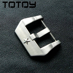 TOTOY 316 Stainless Steel Buckle 22MM Men Slasp, Suitable For PAM Clasp, Five-Pointed Star Decorative Clasp