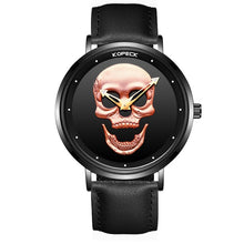 Load image into Gallery viewer, Top Brand Business Men Skull Watches Sports Black Male Wrist Watches Waterproof Silver Stainless Steel Strap Men's Quartz Watch