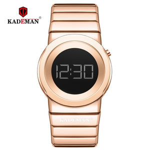 Top Luxury Kademan Brand Women Digital Watches Fashion Simple for Ladies Quartz Full Steel Watch Reloj Mujer Waterproof K9052