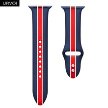 Load image into Gallery viewer, URVOI Silicone band for apple watch series 4 3 2 1 sport band for iwatch strap mix strape colorful replacement 40/44mm