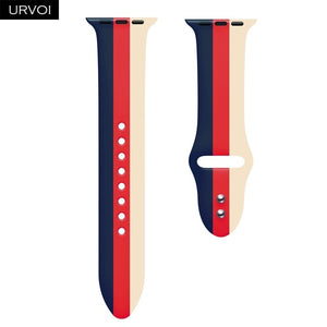 URVOI Silicone band for apple watch series 4 3 2 1 sport band for iwatch strap mix strape colorful replacement 40/44mm