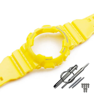Watch Accessories Resin strap case for Casio G-SHOCK watch with case bright light GA110 100 GD120 100 GLS100 watch strap