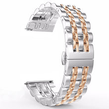 Load image into Gallery viewer, for Samsung Galaxy Watch 42mm 46mm/Active 40mm Band Stainless Steel Wristband Bracelet 20mm 22mm for Gear S3/S2 Classic Strap