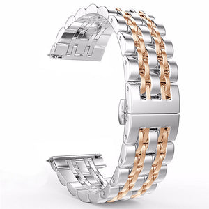 for Samsung Galaxy Watch 42mm 46mm/Active 40mm Band Stainless Steel Wristband Bracelet 20mm 22mm for Gear S3/S2 Classic Strap