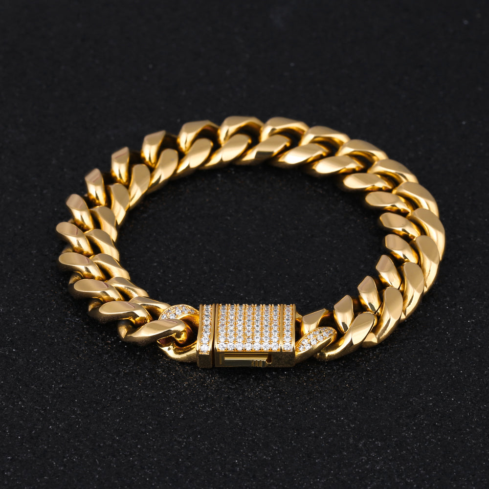 Iced Miami Cuban Link 12 mm