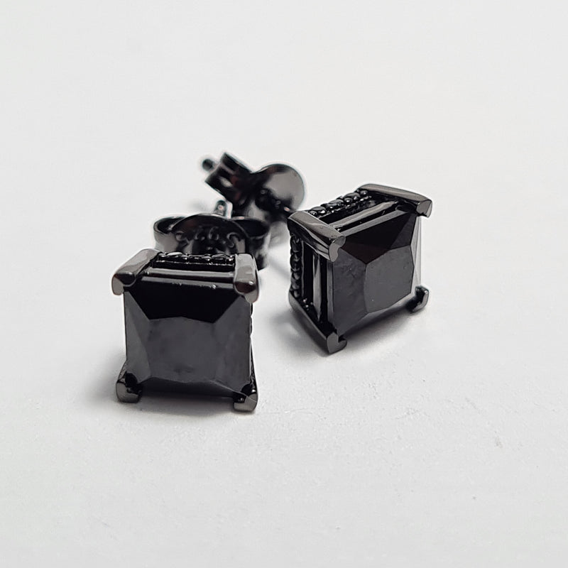 Black Gem CZ Earrings
