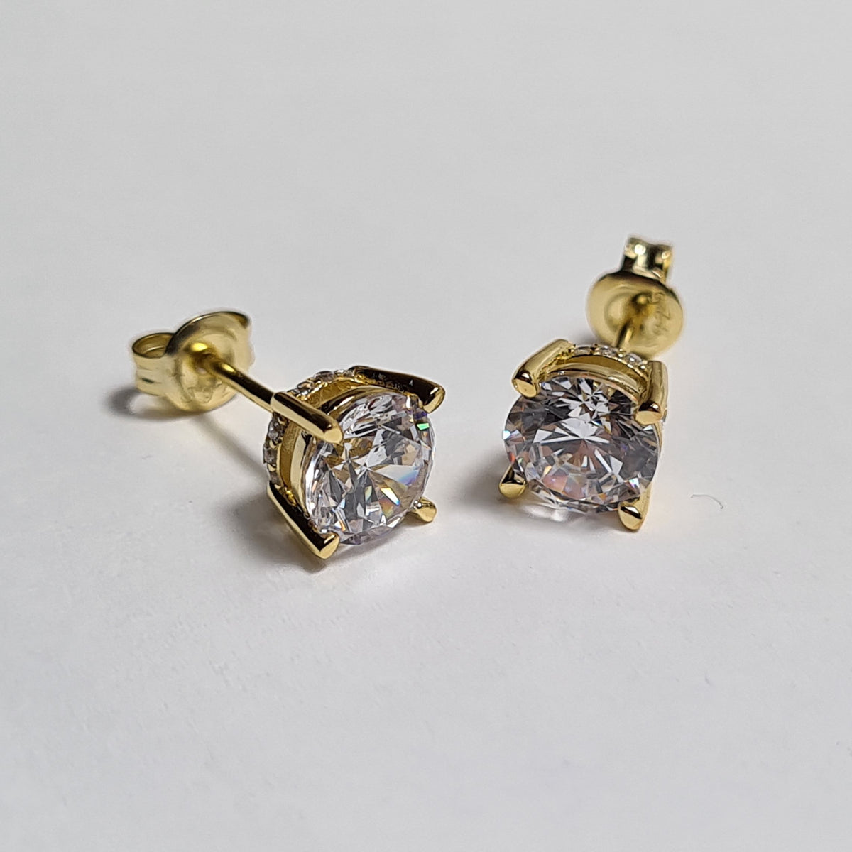 Light Zircon Stud Earrings