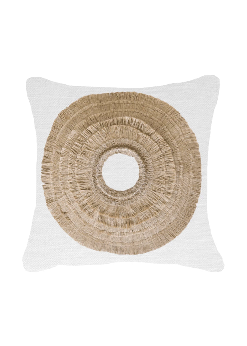 African Shield White Medium Cushion