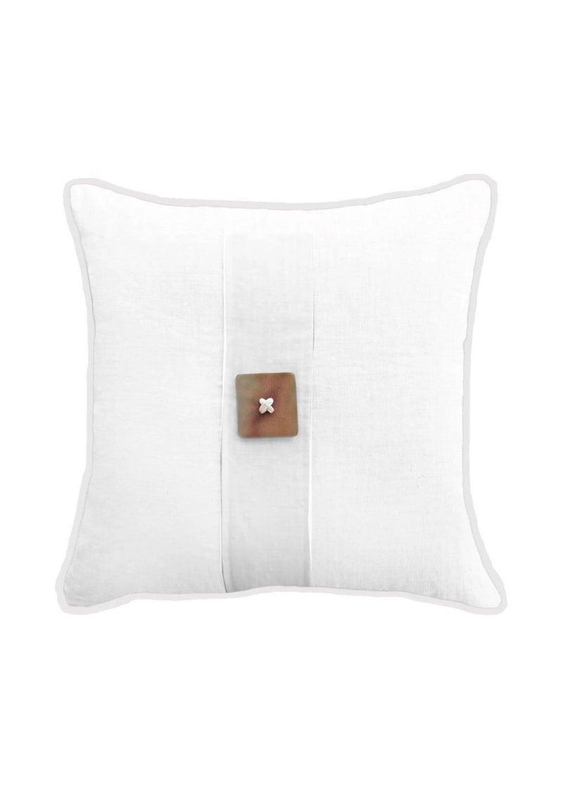 Horn Button White Lounge Cushion