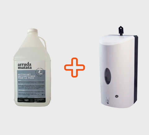 Combo Distributeur sans-contact & Gel Hydro Alcoolique