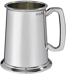 Custom Engraved Double Lined 1 pint Pewter Tankard