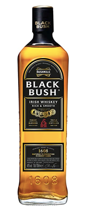 BUSHMILLS BLACK BUSH WHISKEY - 70CL