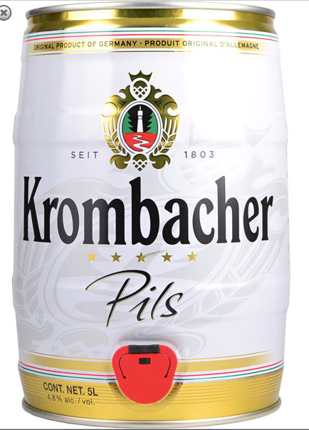 Krombacher Pils 5 Litre Mini Keg