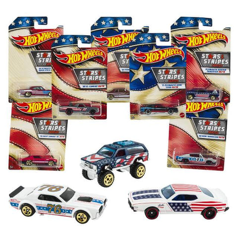 Hot Wheels 2021 Stars and Stripes Series Cars