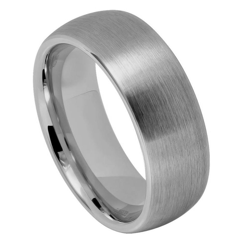 Scratch Free Tungsten Carbide Ring - 4mm, 6mm or 8mm Width