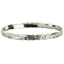 925 Sterling Silver Hand Carved Hawaiian Queen Bangles - 6mm to 18mm