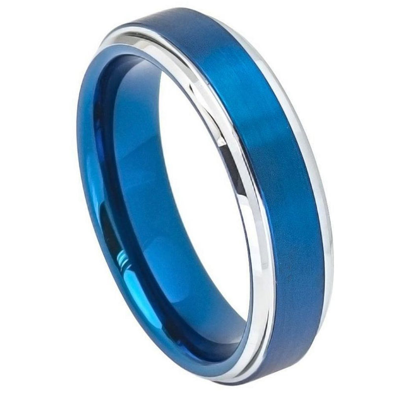 Scratch Free Tungsten Carbide Ring - 6mm or 9mm Blue Rhodium Plated