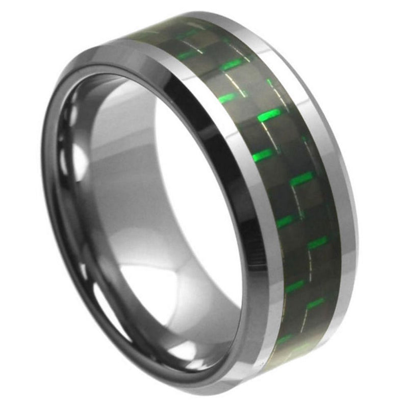 Scratch Free Tungsten Carbide Ring With Carbon Fiber Inlay - 9mm
