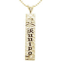 14K Gold Hawaiian Heirloom Pendant -Personalized