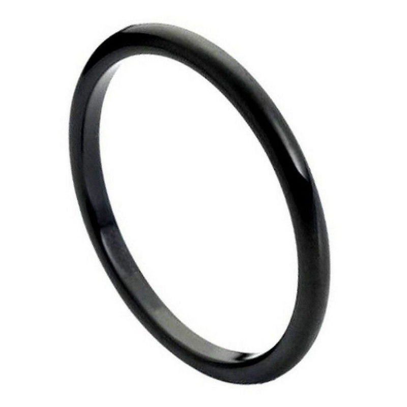 Scratch Free Tungsten Carbide Skinny Bands - 2mm