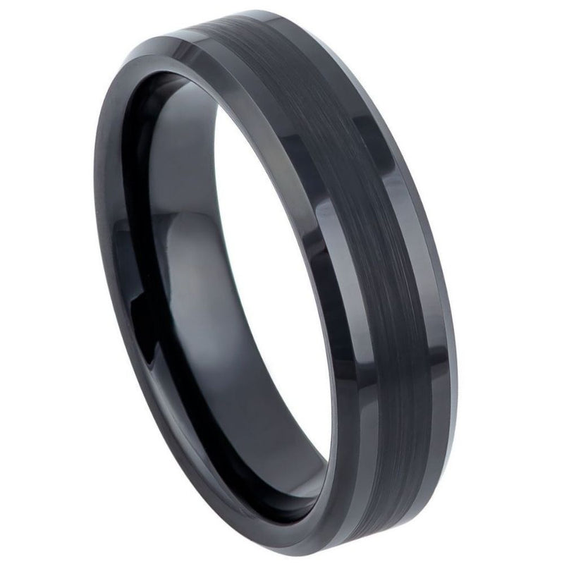 Scratch Free Tungsten Carbide Rings - Black Rhodium Plated