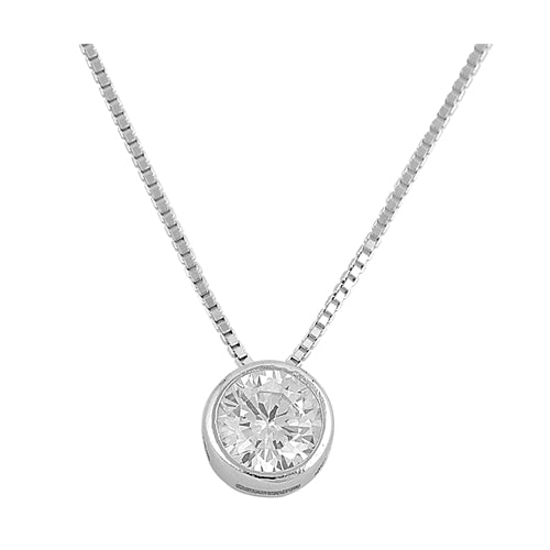 925 Sterling Silver Clear CZ Necklace
