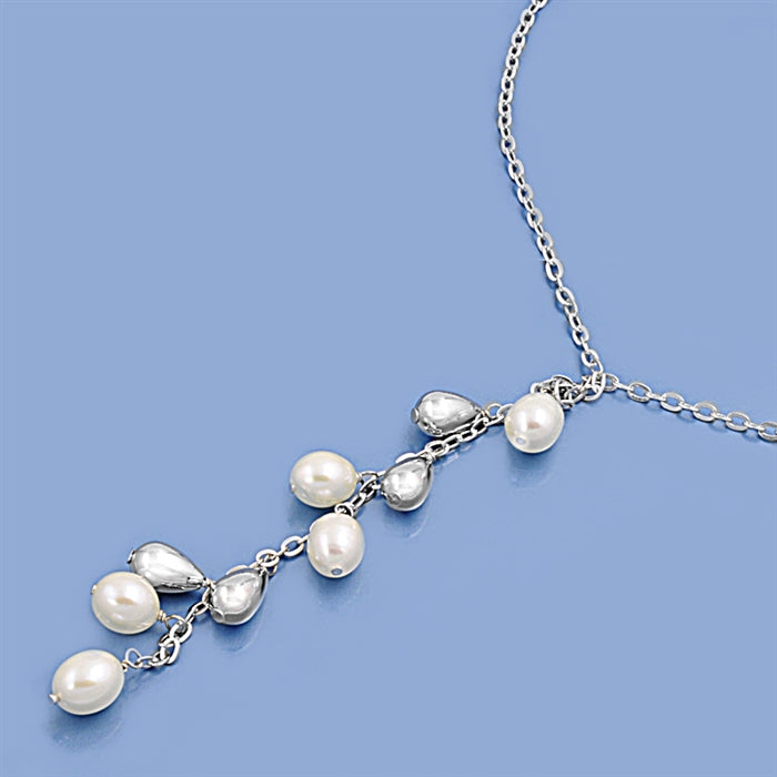 925 Sterling Silver Necklace With Freshwater Pearls