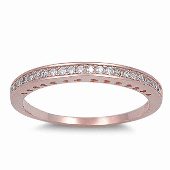 925 Sterling Silver  CZ Band