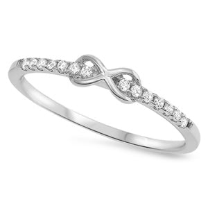 925 Sterling Silver Infinity CZ Ring