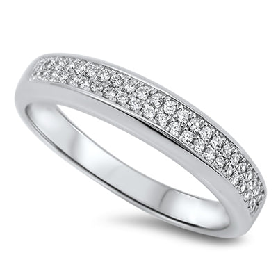 925 Sterling Silver CZ Wedding Band