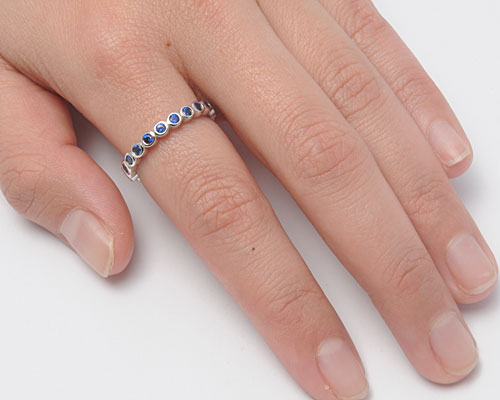 925 Sterling Silver CZ Eternity Ring