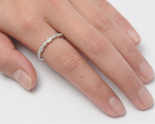 925 Sterling Silver Stackable Ring - All Seeing Eyes With CZ